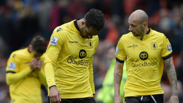 Aston VIlla players came under fire following their club's relegation from the Premier League