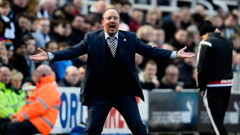 Benitez has won one and drawn three of his seven games in charge of Newcastle