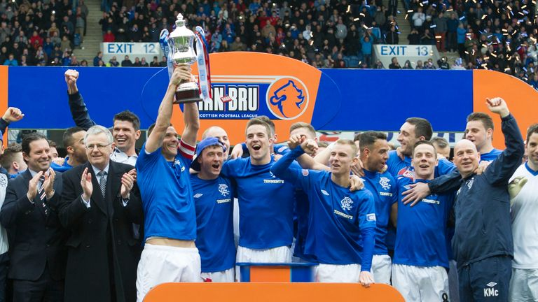Rangers won the old Third Division by 24 points