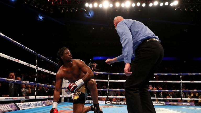 Charles Martin was counted out in the second round