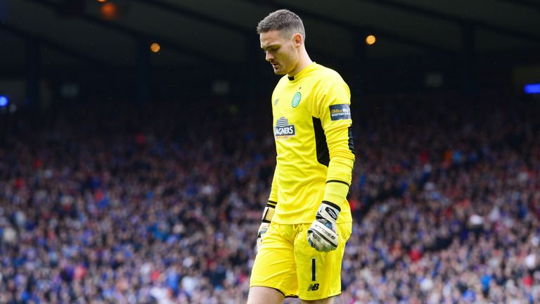 Celtic goalkeeper Craig Gordon tried to put Rangers players off in the penalty shootout
