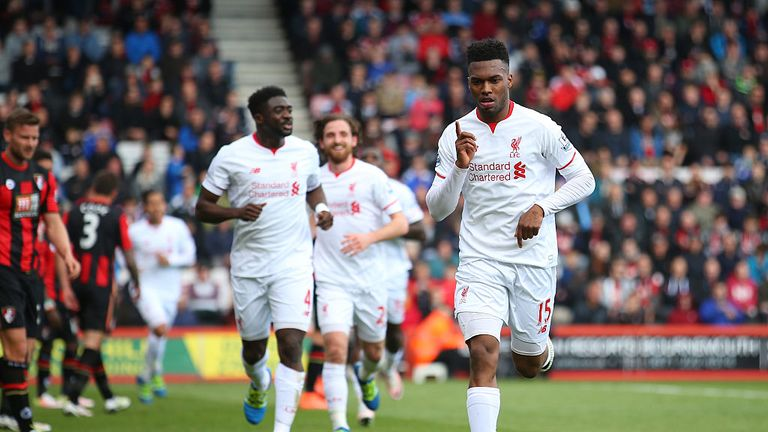 Daniel Sturridge was on target in Liverpool's win at Bournemouth