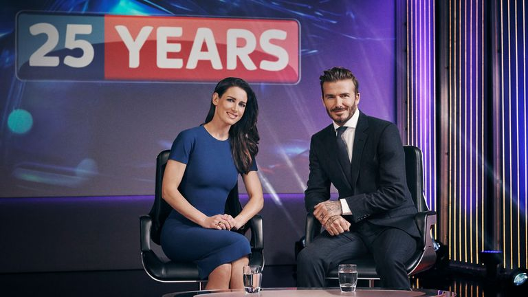 Immerse yourself in Sky's Virtual Reality studio to watch our exclusive interview with David Beckham