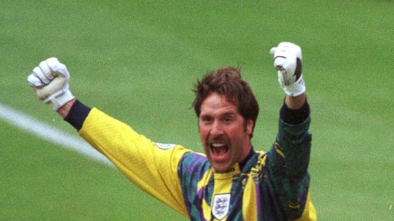 David Seaman made a crucial penalty save from Gary McAllister during England's win over Scotland