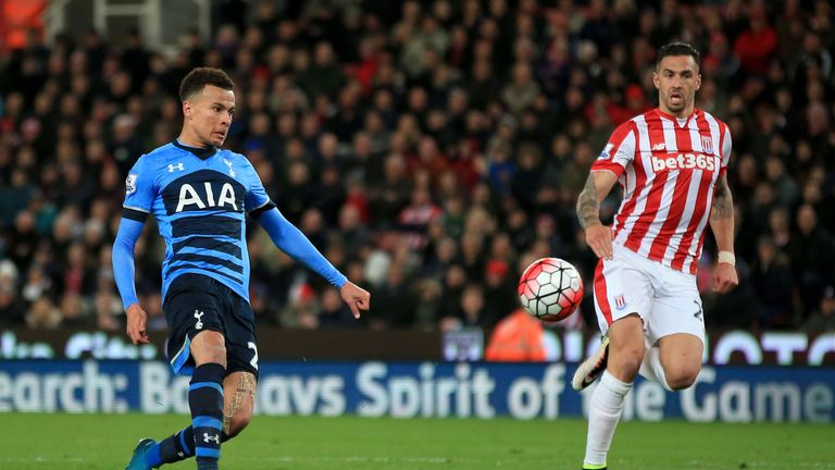 Alli scored twice in a 4-0 win at Stoke last Monday Night Football