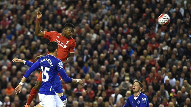 Origi outjumps John Stones to head his side in front