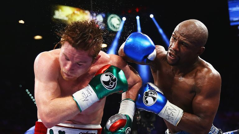 Floyd Mayweather sent Alvarez to his sole professional defeat in September 2013