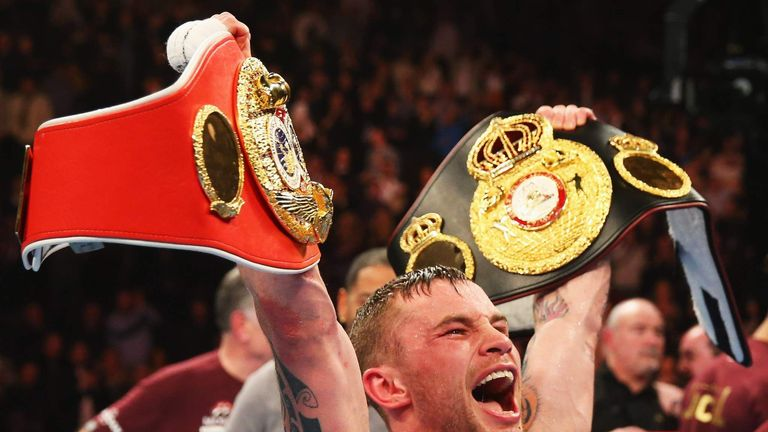 Carl Frampton's last super-bantamweight fight ended in glory