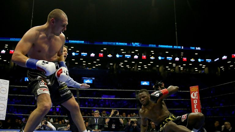 Krzysztof Glowacki knocked down Steve Cunningham four times