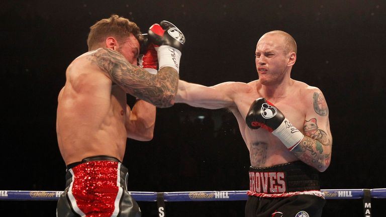 David Brophy's unbeaten record was ruined by  George Groves