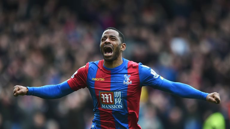Puncheon celebrates after firing Palace into the lead
