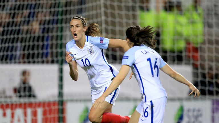 There won't be any love lost on Sunday between Scott and Chelsea's Karen Carney (right)