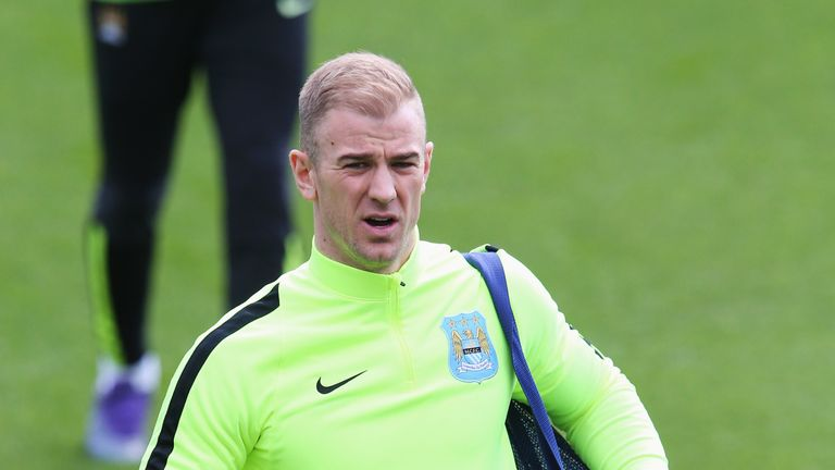 Joe Hart has trained with Manchester City