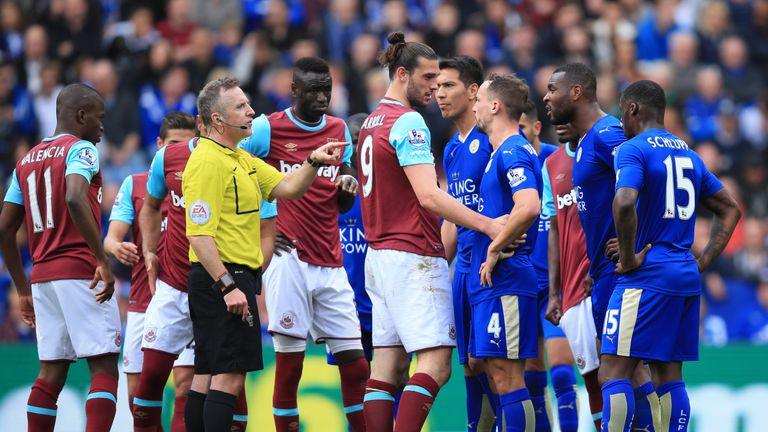 Leicester grabbed a draw in a highly controversial game against West Ham