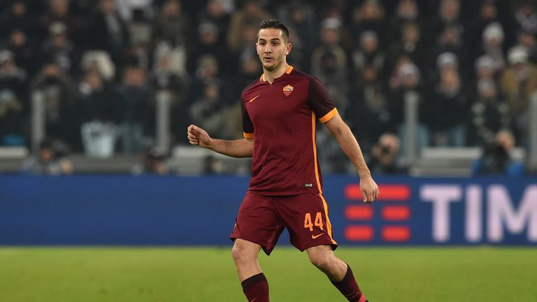 Konstantinos Manolas of Roma in action during the Serie A match against Juventus on January 24 2016