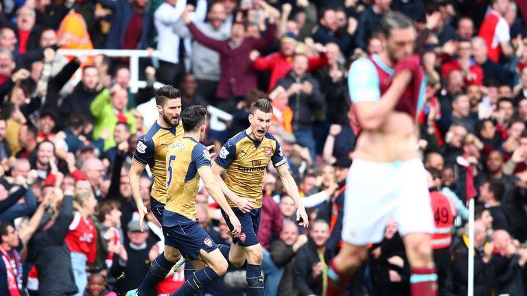 Laurent Koscielny of Arsenal celebrates