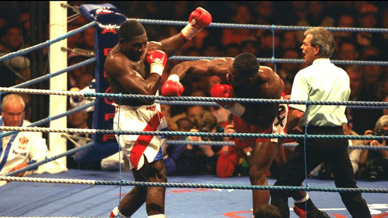 Paul Smith enjoyed Frank Bruno (left) fighting Lennox Lewis