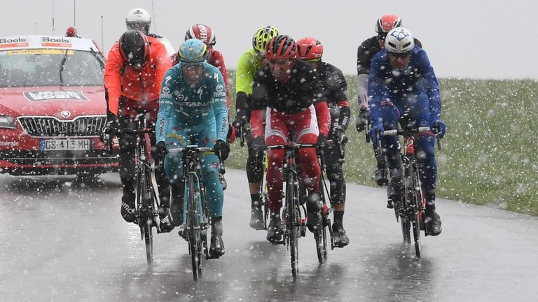 The race was played out in dreadful weather conditions