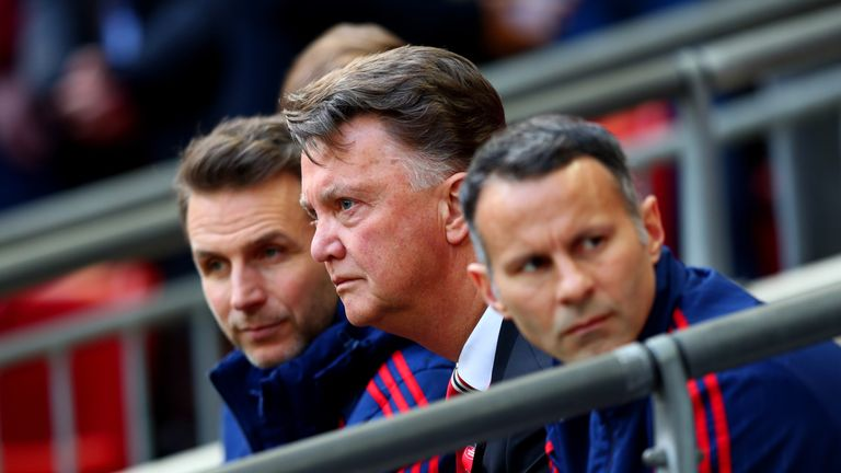 Louis van Gaal hit out at the referee despite reaching the FA Cup final.