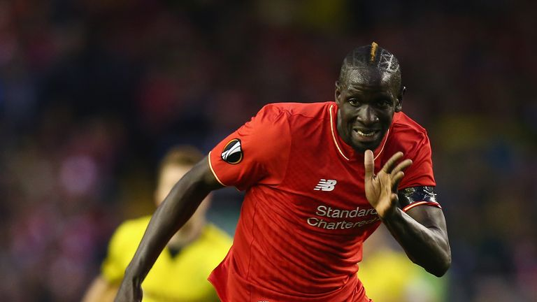 Mamadou Sakho of Liverpool in action against Dortmund
