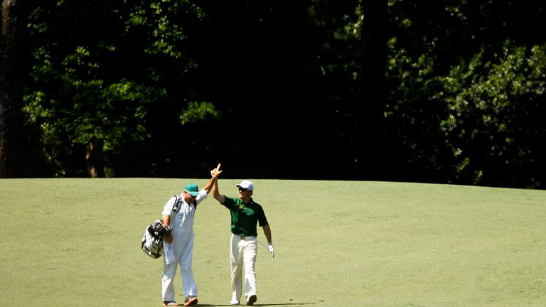 Louis Oosthuizen made an albatross on the second hole during the final round of the 2012 Masters