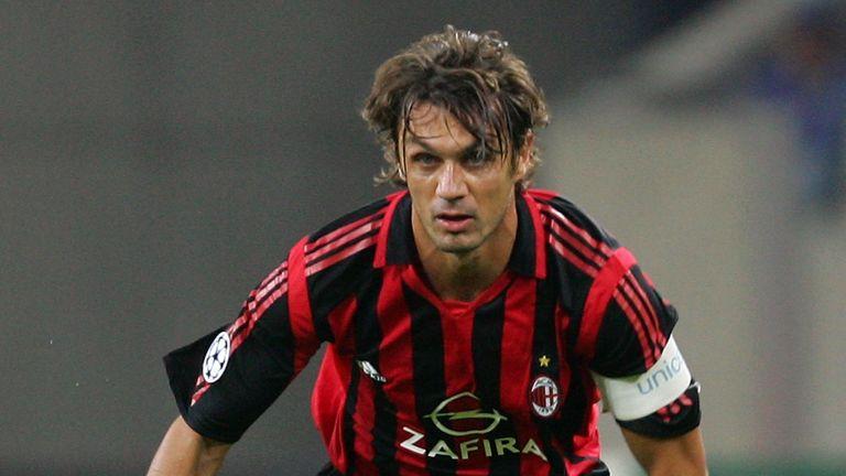 Paolo Maldini in action in 2005