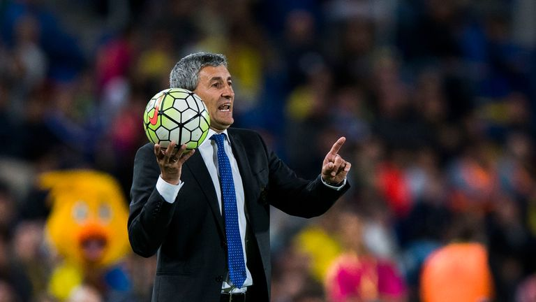 Head coach Quique Setien of UD Las Palmas