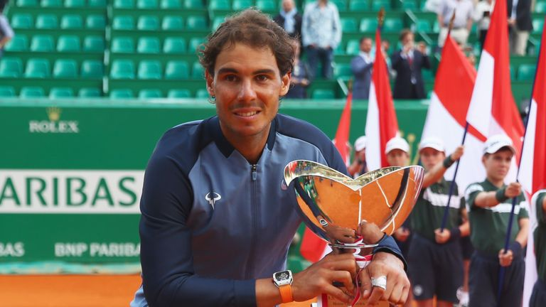 Nadal defeated Gael Monfils in the final of the Monte Carlo Masters
