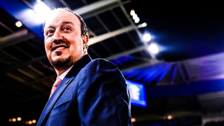 LEICESTER, ENGLAND - MARCH 14:  Rafael Benitez manager of Newcastle United looks on prior to the Barclays Premier League match against Leicester City