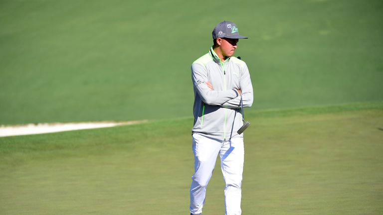 Rickie Fowler could not break 80 on the first day at Augusta