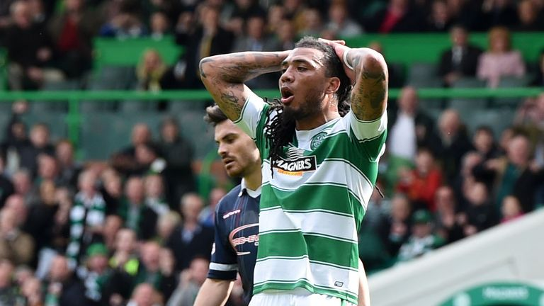 Celtic's Colin Kazim-Richards rues a missed chance