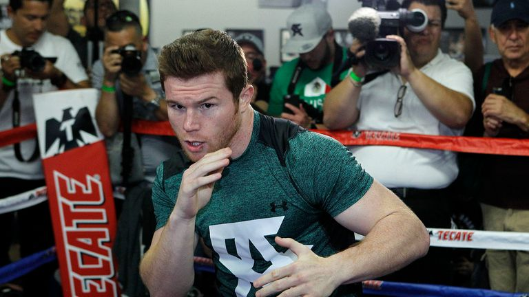 Saul Alvarez is plotting Amir Khan's downfall (Pic: Tom Hogan- Hoganphotos/Golden Boy Promotions)