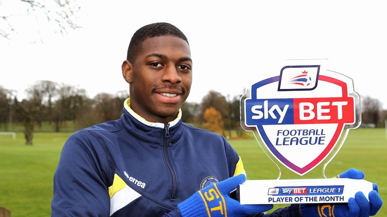 League One Sky Bet Player of the Month Award for March 2016. Shrewsbury Town's Sullay Kaikai.