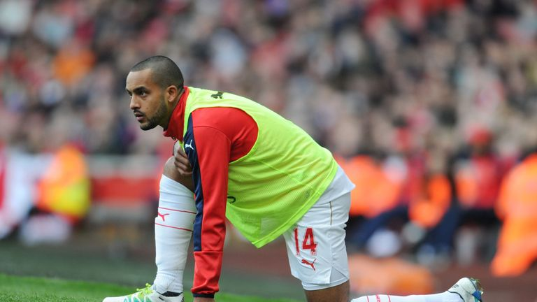 Theo Walcott of Arsenal during the Barclays Premier League match between Arsenal and Crystal Palace