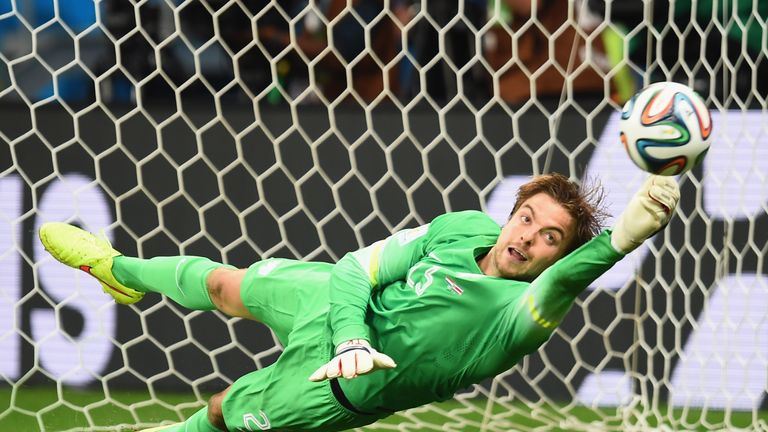Tim Krul was injured representing the Netherlands