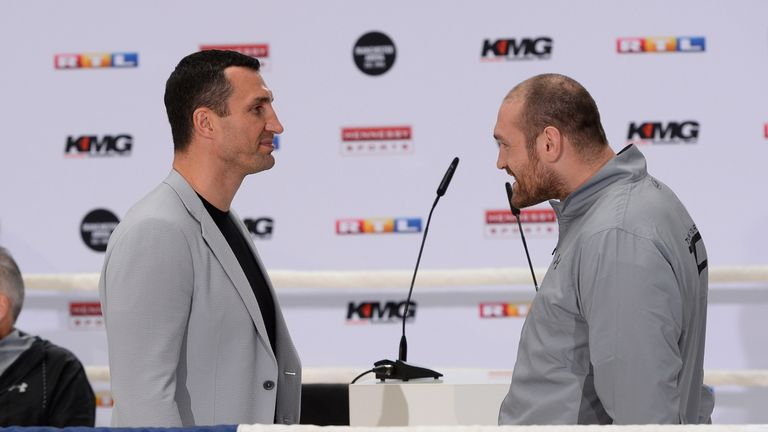 Tyson Fury (right) and Wladimir Klitschko faced off again in Cologne