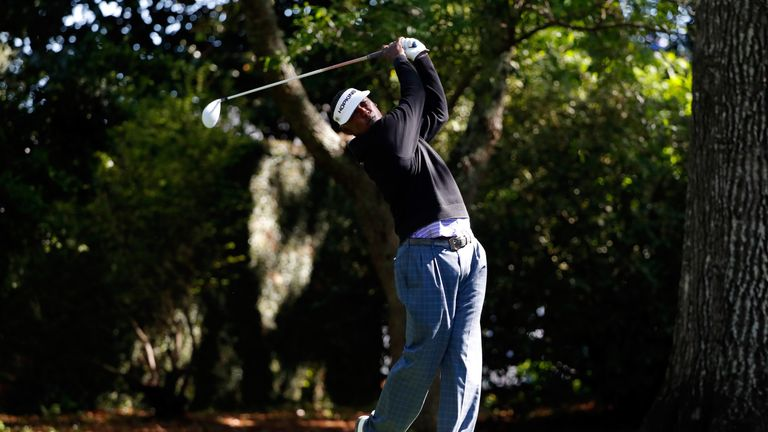 Vijay SIngh in action last week during the first round of The Masters