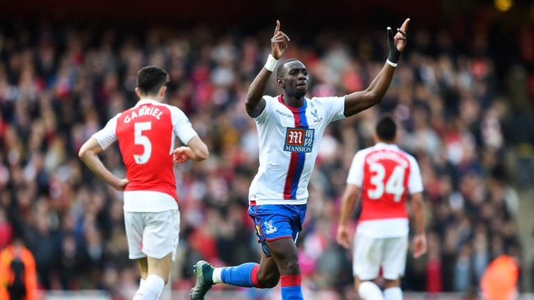 Yannick Bolasie of Crystal Palace celebrates