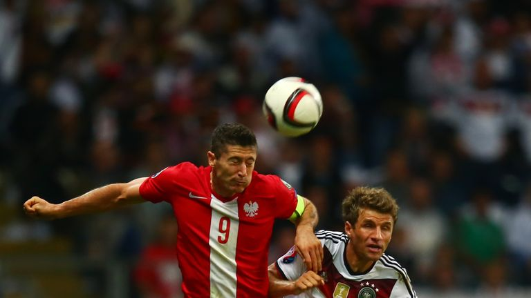 Robert Lewandowski and Thomas Muller are in the running to be top scorer