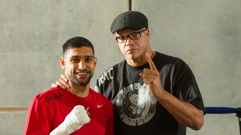 Virgil Hunter will be in Amir Khan's corner when he faces Saul Alvarez