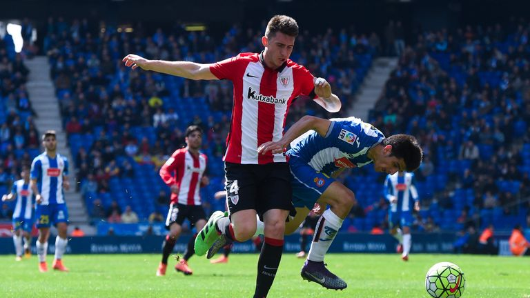 Laporte in action for Athletic Bilbao against Espanyol