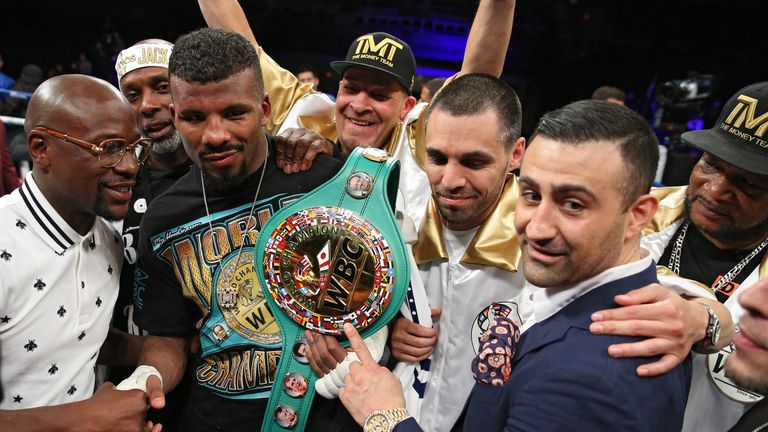 Floyd Mayweather (left) has offered his guidance to Badou Jack