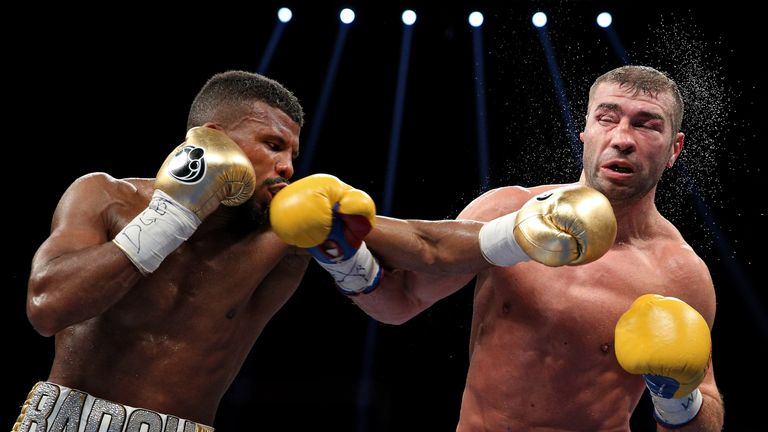Badou Jack (left) earned a majority draw with Lucian Bute to retain his title