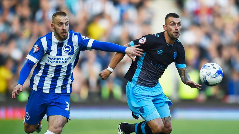 Jiri Skalak of Brighton (left) and Jack Hunt of Sheffield Wednesday