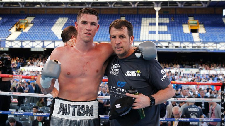 REAL LIFE ROCKY STORY PROMOTION GOODISON PARK,LIVERPOOL PIC;LAWRENCE LUSTIG SUPER-MIDDLEWEIGHT CONTEST CALLUM SMITH V CESAR HERNAN REYNOSO