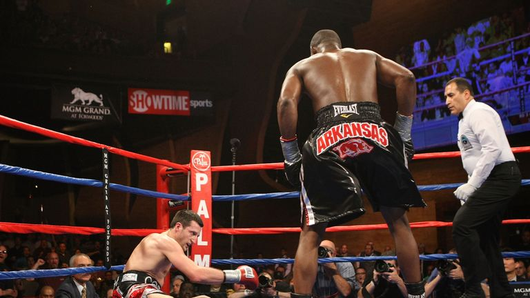 Carl Froch had to haul himself up from the canvas against Jermain Taylor
