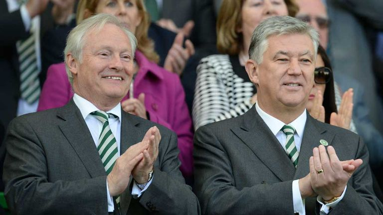 Celtic chairman Iain Bankier (left) and chief executive Peter Lawwell