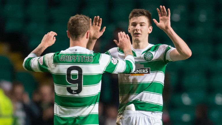 Scotland boss Gordon Strachan is keen to rest Celtic's Kieran Tierney and Leigh Griffiths