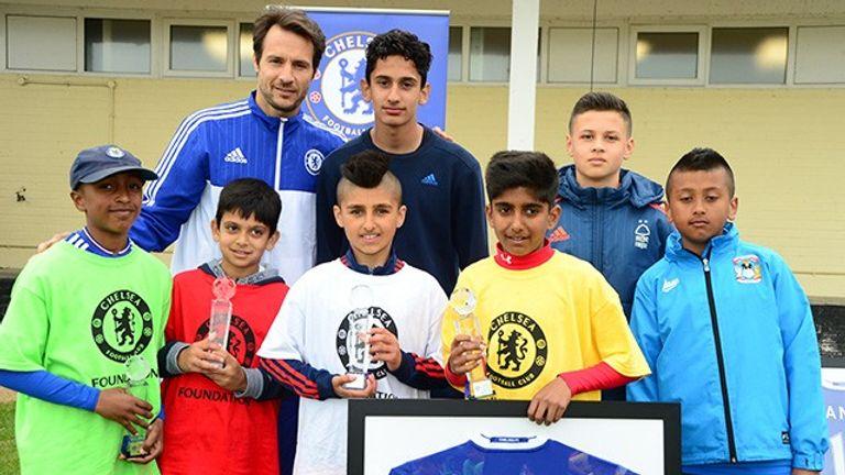 Club ambassador Carlo Cudicini (top left) has been given extra coaching responsibilities at Chelsea