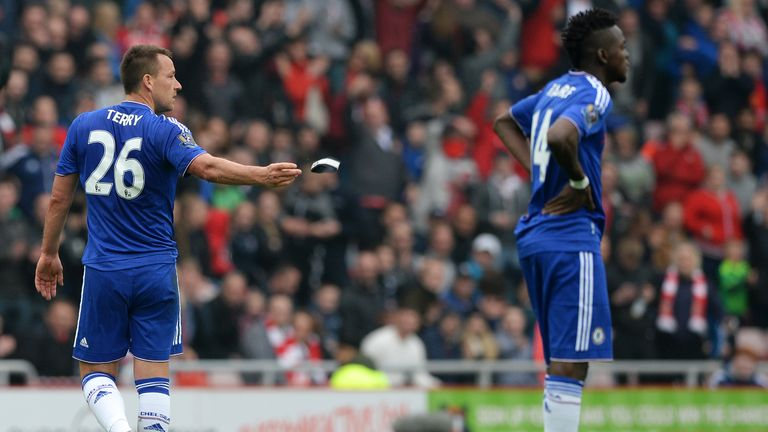 John Terry (left) was sent off in what could be his last ever game for Chelsea last Saturday